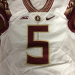 Heres a first look at the new away jerseys for tomorrow night. White jersey, Garnet number. #GoNoles #FSU http://t.co/pEfJCqP484
