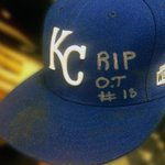 #Royals Yordano Ventura cap worn in dominant #WorldSeries Game 6. Tribute to Oscar Taveras is headed to Cooperstown. http://t.co/dsGp5BqBCI