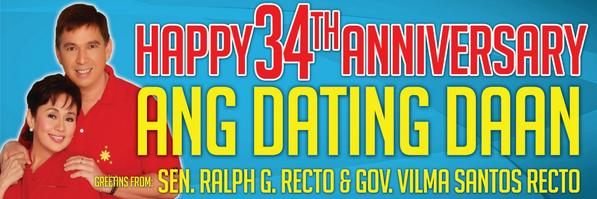 Greetings from Sen. Ralph Recto at Gov. Vilma Santos-Recto sa #Happy34YearsADD @BroEliSoriano http://t.co/Pu8zzLpMDe