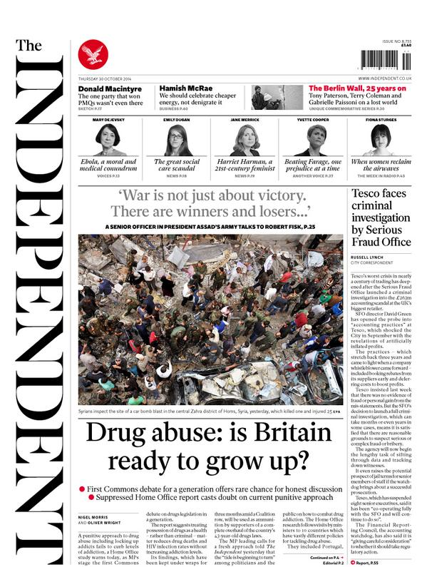 Mt @amolrajan: DRUG ABUSE: IS BRITAIN READY TO GROW UP? Tomorrow's @independent front page:  http://t.co/U0ty319ojM > #qwtain @JohnRentoul