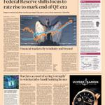 Just published: front page of the Financial Times UK edition Thur Oct 30 http://t.co/cMFikiHMSL