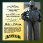 Rededication of Grant Teaff Statue Set For Saturday: http://t.co/4El32awCav #BaylorHomecoming http://t.co/AbIhXpJxTC