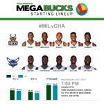 Tonights #MILvCHA MegaBucks Starters http://t.co/ii3G91fmNV