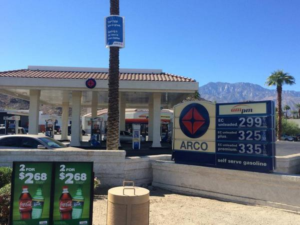Gas is getting cheaper in the Coachella Valley! Under $3 at one gas station in Cat City http://t.co/w1XJP7SZh6 http://t.co/QoQb7YmfcF