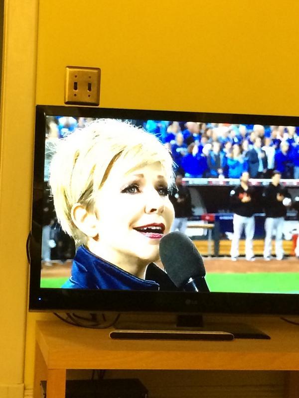 How about @JoyceDiDonato KILLING IT at the World Series! Yeah I'm a little weepy. #hearJoyceSing http://t.co/8o6Dwy8g2u