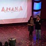 María del Carmen Sajquim y Oscar Cifuentes presentan el @FestivalArcadia de la @mesoxela en Teatro Municipal. http://t.co/Cg8vmF8PvE