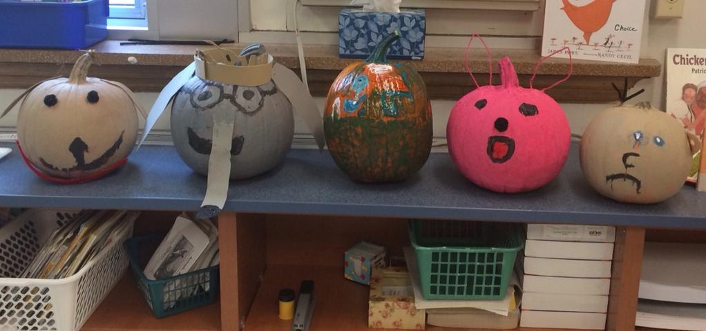 Pumpkin painting for our new character study unit. So much fun! Thank you to the PTA & parents for making it happen! http://t.co/uZgGDq56yw