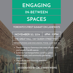 First of a kind in #TO RT @donnelly_b: Toronto's first summit on laneways http://t.co/aVO036fa8k #athiscity #TOpoli http://t.co/hRcicBdbWZ