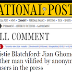 I wonder how Christie Blatchford feels about this right now: #JianGhomeshi #ibelievelucy http://t.co/8YmxOCeP4c
