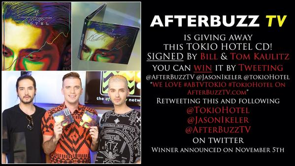 Want a #KingsOfSuburbia CD signed by #TokioHotel's Bill & Tom? Watch This: http://t.co/eo6wWqWdd3 & See Attached pic! http://t.co/OHHgTLwQM9