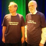 The Titans of Modesty. They never put a ©®™ on any of it. @vgcerf & @timberners_lee http://t.co/VlPw4IKY8C