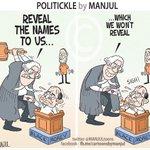RT @MANJULtoons: Supreme Court gets the list of #BlackMoneyHolders. My #cartoon http://t.co/Nsd0LjPbfR