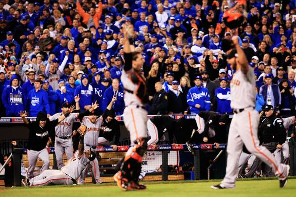 Here's another great shot of the #SFGiants securing the final out of #WorldSeriesGame7. http://t.co/Fn7V0gZkLt