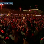 """""""@MLBONFOX: Theyre going CRAZY in San Francisco! #SFGiants #WorldSeries http://t.co/6uiMz4Vdgk"""" hi chris"""