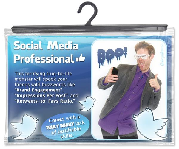 Want to be a 'Social Media Pro' for Halloween? I love this. So true. So scary. http://t.co/F4BfhLlA9j