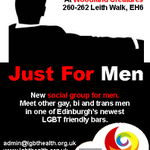 Reminder for #gay #bi & #trans men in #Edinburgh, our monthly social Just For Men is the 2nd Wednesday of each month. http://t.co/vqqZbbMhYa