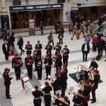 RT @BritishArmy: The Band of The Parachute Regiment entertains commuters at #London Liverpool Street for #LDNPoppyDay http://t.co/VW19wShQPz