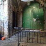 منذ اليوم وحتى اشعار اخر المسجد #الأقصى مغلق بالكامل امام الجميع شباب فلسطين يعلن #النفير_المقدس نصرة للاقصى #القدس http://t.co/kSuOJLZJR8