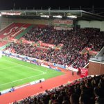 The magnificent away support of @SouthamptonFC is sight to behold. Brilliant support for a school night #saintsfc http://t.co/dapWOXeqS5