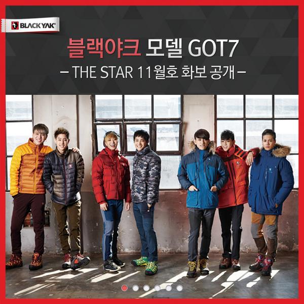 블랙야크 모델 GOT7 THE STAR 11월호 화보 공개  ▶ 자세히보기 : http://t.co/eb9Xt3IEm3 http://t.co/kkrFblRiGz