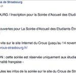 RT @G_Dussausaye: Le #Crous de Strasbourg applique la préférence étrangère ! Evénement modifié suite à la pression du @CollecMarianne http://t.co/FRrChK2ksp