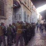 """جنود العدو يغلقون #الأقصى اليوم في وجوه المصلين. #حماس لم """"تتحرش"""" هنا، فهل سيقول بعض """"العرب"""": تدافع عن نفسها إسرائيل؟ http://t.co/GYfAezY17I"""