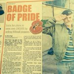 Sean the Millwall Poppy man in todays Southwark News , get your lions poppy badge http://t.co/4QtAwD5mu5