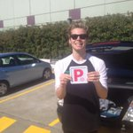 No more shape of an L  on his forehead . Learner Luke is now a provisional penguin . Congrats. It was a tuff road http://t.co/9s5eCyns75