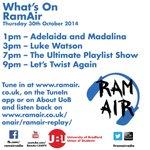 Who is on air today? @BradfordUni @BradfordUniSU http://t.co/Ru4z0SYu6C