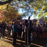 Dikembe Mutombo encouraging voters to cast ballot for @MichelleNunnGA in SE #Atlanta #wsbtv #gapol #gadems #senate http://t.co/BB2vQMb1Xu