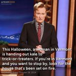 Conan on Halloween in Vermont. @TeamCoco http://t.co/twJF7Zstny