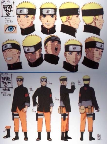 Naruto The Last Character Design Color : Narutoxuzumaki full color character designs for naruto