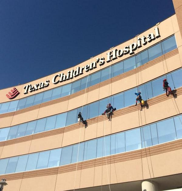 We spy some #superheroes at #TexasChildrens Hospital West Campus this morning! http://t.co/UT6nG8hTGj