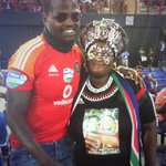 Mama Joy and DJ Cleo here to celebrate the life of Meyiwa @SPORTandREC_RSA @MbalulaFikile #jointMemorial http://t.co/9Qy4NLjmwe