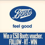RT @ultraclear_plus: Last chance to enter our #competition! You can #win a £50 Boots voucher by following @ultraclear_plus & RTing! http://t.co/geYAUGGbuJ