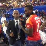 Just interviewed goalkeeper @djcleo1 ,hes wearing a jersey given to him by Senzo #MeyiwaMwelaseMulaudzi http://t.co/eczvdvJWrt