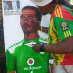 #Memorial A painting of Senzo Meyiwa. Artist Lebane Serenje plans to give this to his family. #sabcnews http://t.co/R0DtMtRC08