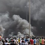 RT @BBCBreaking: Smoke rising from Burkina Fasos Parliament in Ougadougou after being stormed by protesters http://t.co/sFSepdo2kp http://t.co/ath2MckxWe