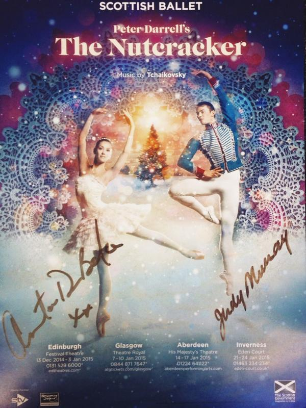GIVEAWAY TIME! We have one #SBNutcracker poster signed by the fabulous @judmoo & @TheAntonDuBeke  - simply RT to win! http://t.co/lpL2JDE9YH