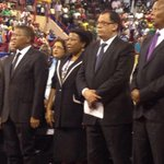 Minister of @SPORTandREC_RSA, Danny Jordan amongst the mourners . #JointMemorial http://t.co/o1lvVTS8ZS