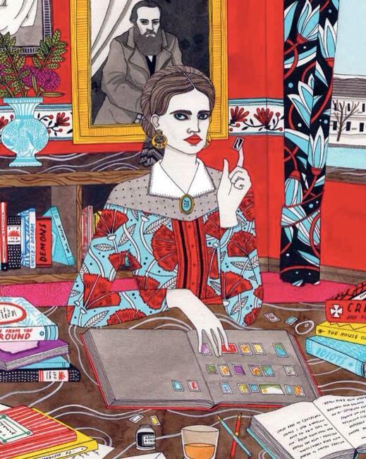 Little-Known Sidekicks Behind Creative Geniuses http://t.co/Mwj6GpUXNW Anna Dostoyevskaya art by Laura Callaghan http://t.co/rnRZ46pwkJ