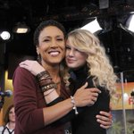 RT @RobinRoberts: Sharing a #TBT pic from 6 years ago w/ @taylorswift13 & she's back @GMA Shaking it off in Times Square. #TaylorOnGMA http://t.co/ZAf9PuG7db