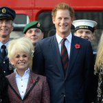 Video: Prince Harry meets stars on a classic London bus to support poppy appeal http://t.co/uM047o5OT6 http://t.co/Gh5Bx9n42x