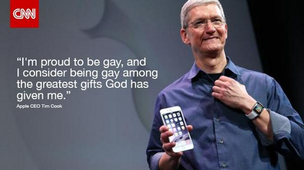 Apple CEO Tim Cook announces he's gay. http://t.co/Kj2ZOfYkXF http://t.co/ajFmqfThOZ