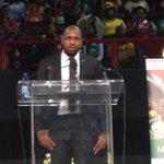 Itumeleng Khune leads a song as he says #SenzoMeyiwa loved singing. http://t.co/Cr8ZWAjDSN