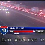 Traffic: 30 min travel time on I-40 w/b between Hwy 64 & 40/240 due to crash after Whitten Rd! #WREG #MEMtraffic http://t.co/fcPk30XGCa