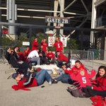 .@BirdCageL1C4 students already lining up at gate for tonights #ShowTime game. @ULFlyingCard @CoachPetrinoUL #GoCards http://t.co/a8WjfD23AF