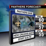 How about that @Panthers Forecast?! In the upper 50s for Kick off. Bring a jacket! @WCCBNewsRising Sunset 6:31PM http://t.co/hkAkge2o4P