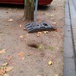 Die Stadt sichert ihre Baustellen nicht. @Echo_Online @EchoLive @Darmstadt das hat weh getan. ( Gestern Abend ) http://t.co/NdrXtmxyt0