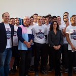 #Montpellier célèbre son équipe de football américain, championne de France junior 2014 http://t.co/mSsAhEBDMg http://t.co/uy6CafVlQR